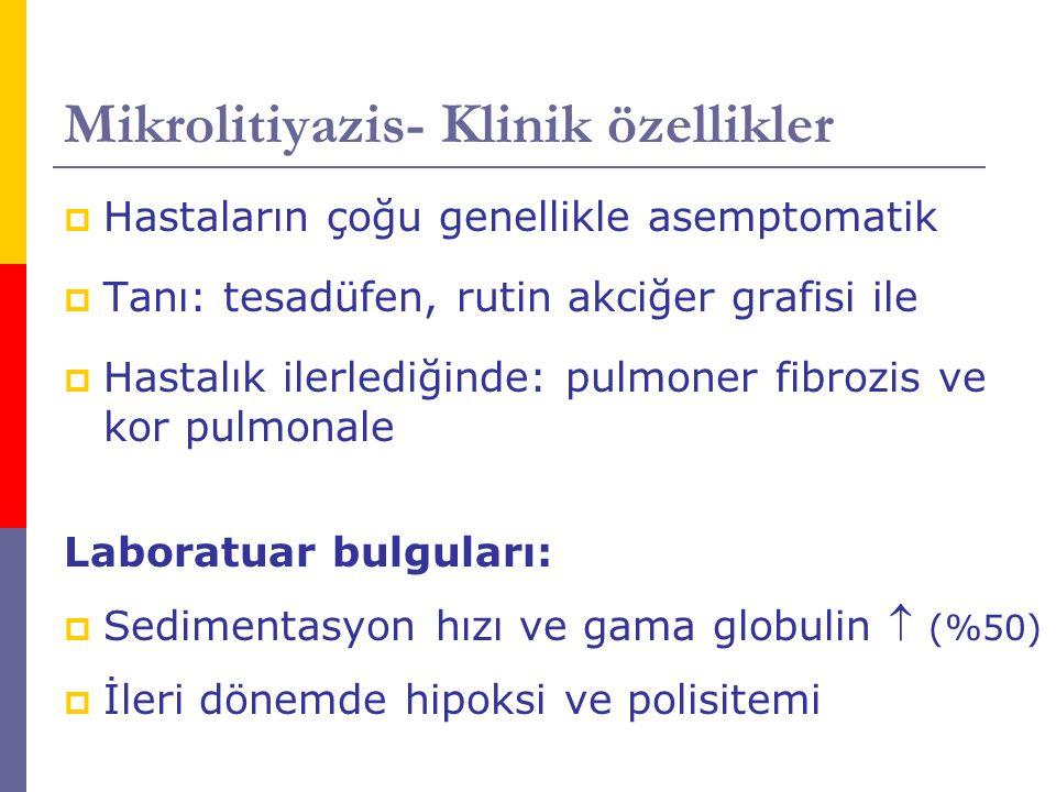 Mikrolitiyazis- Klinik özellikler