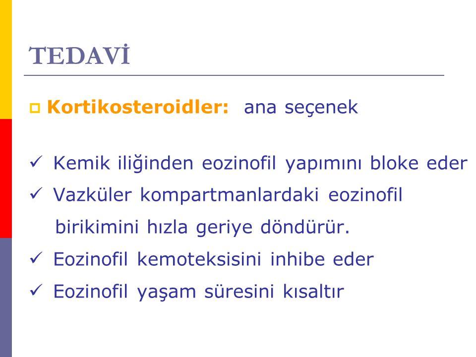 TEDAVİ Kortikosteroidler: ana seçenek
