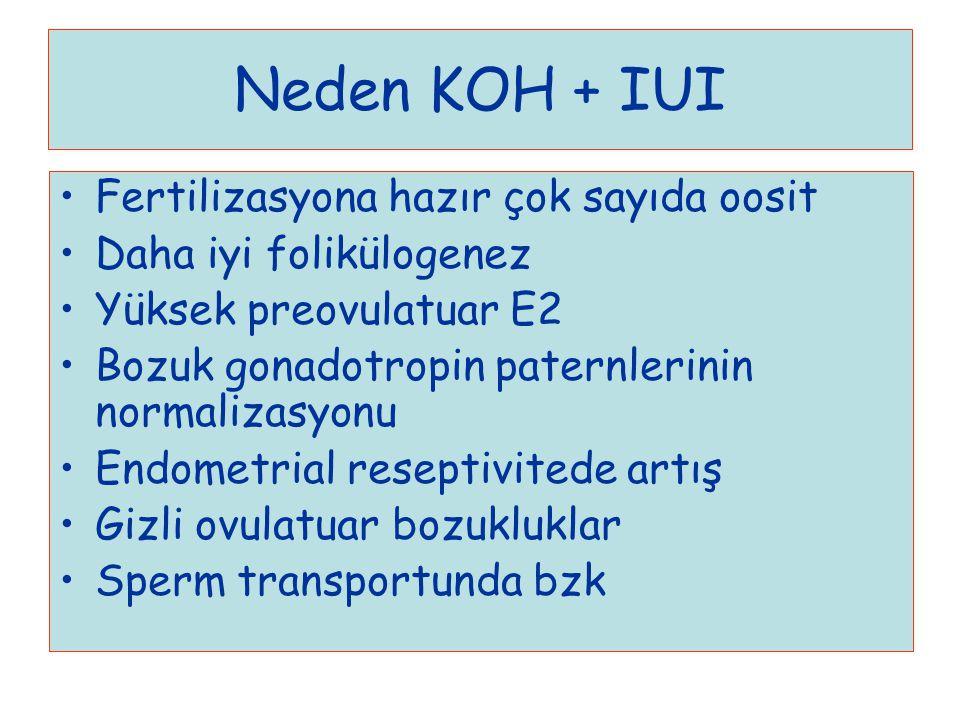 Neden KOH + IUI Fertilizasyona hazır çok sayıda oosit