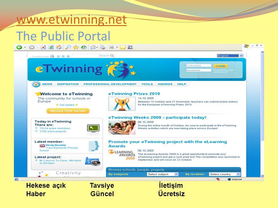 www.etwinning.net The Public Portal
