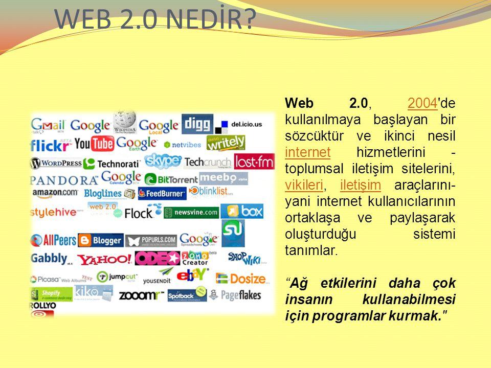 WEB 2.0 NEDİR