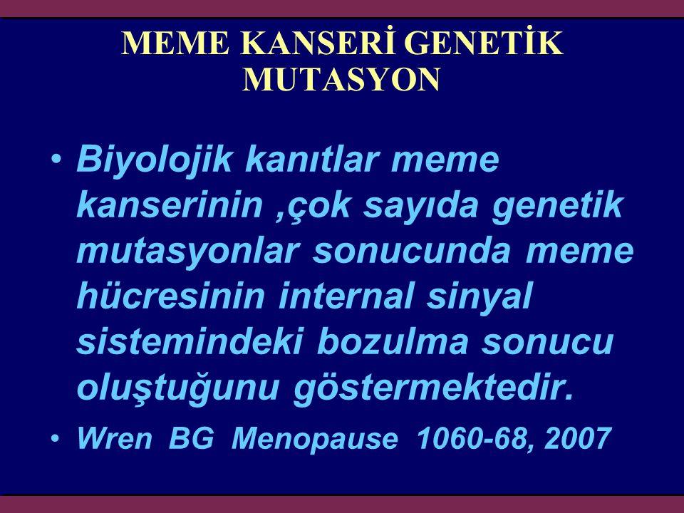 MEME KANSERİ GENETİK MUTASYON