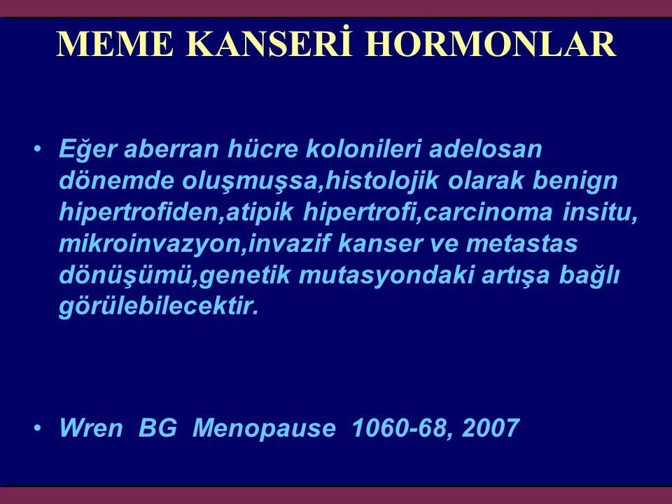 MEME KANSERİ HORMONLAR