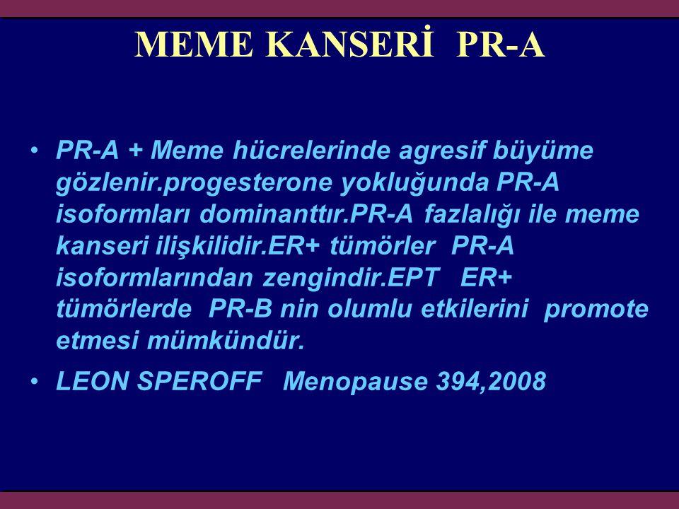 MEME KANSERİ PR-A
