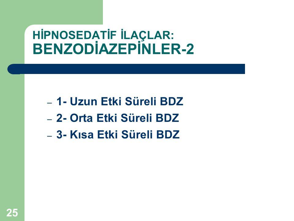 HİPNOSEDATİF İLAÇLAR: BENZODİAZEPİNLER-2