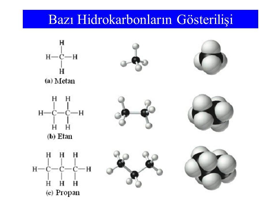 Bazı Hidrokarbonların Gösterilişi
