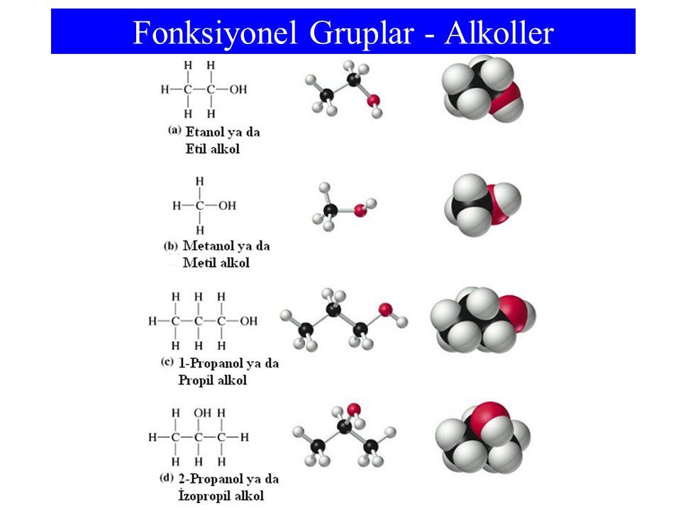 Fonksiyonel Gruplar - Alkoller