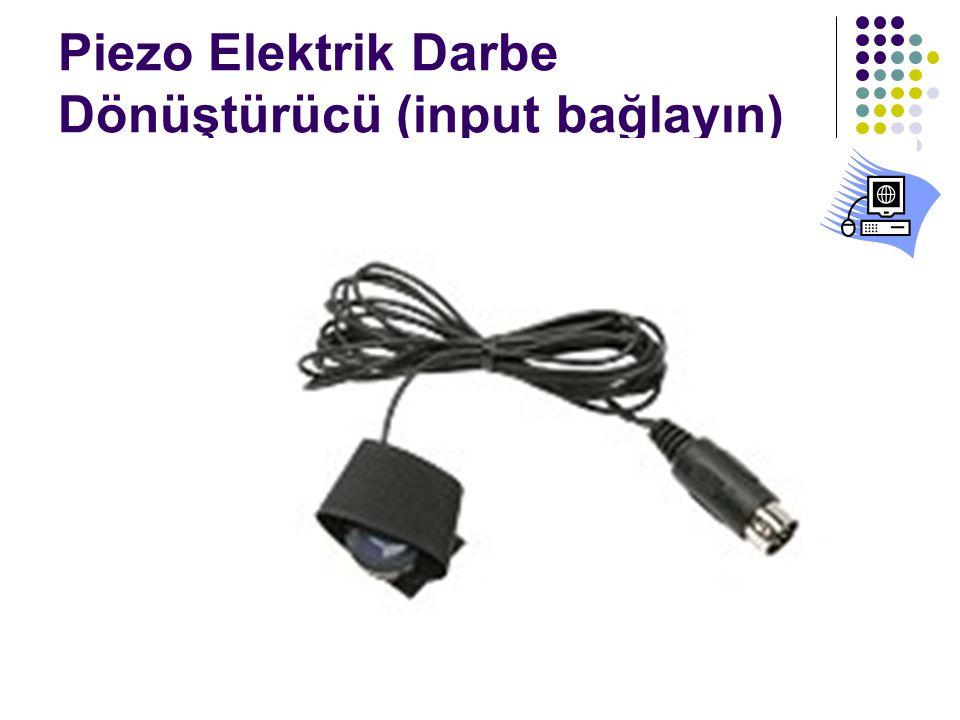 Piezo Elektrik Darbe Dönüştürücü (input bağlayın)