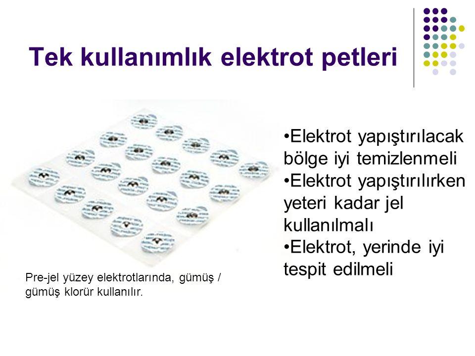 Tek kullanımlık elektrot petleri