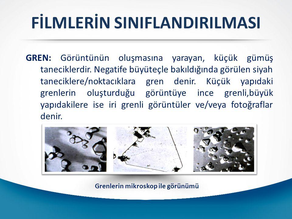 FİLMLERİN SINIFLANDIRILMASI Grenlerin mikroskop ile görünümü