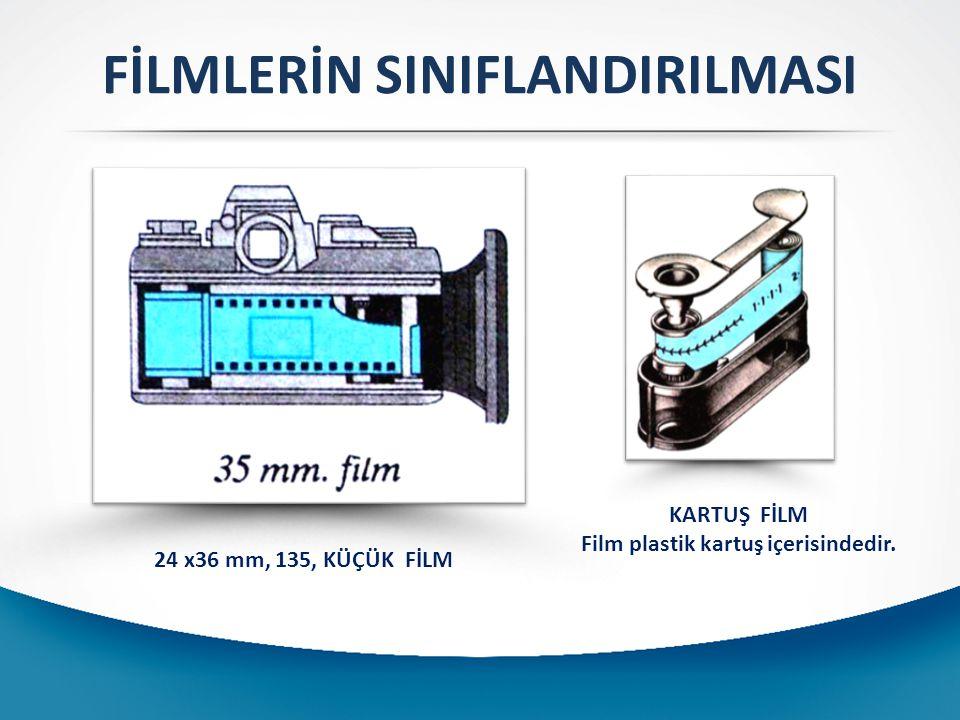 FİLMLERİN SINIFLANDIRILMASI Film plastik kartuş içerisindedir.