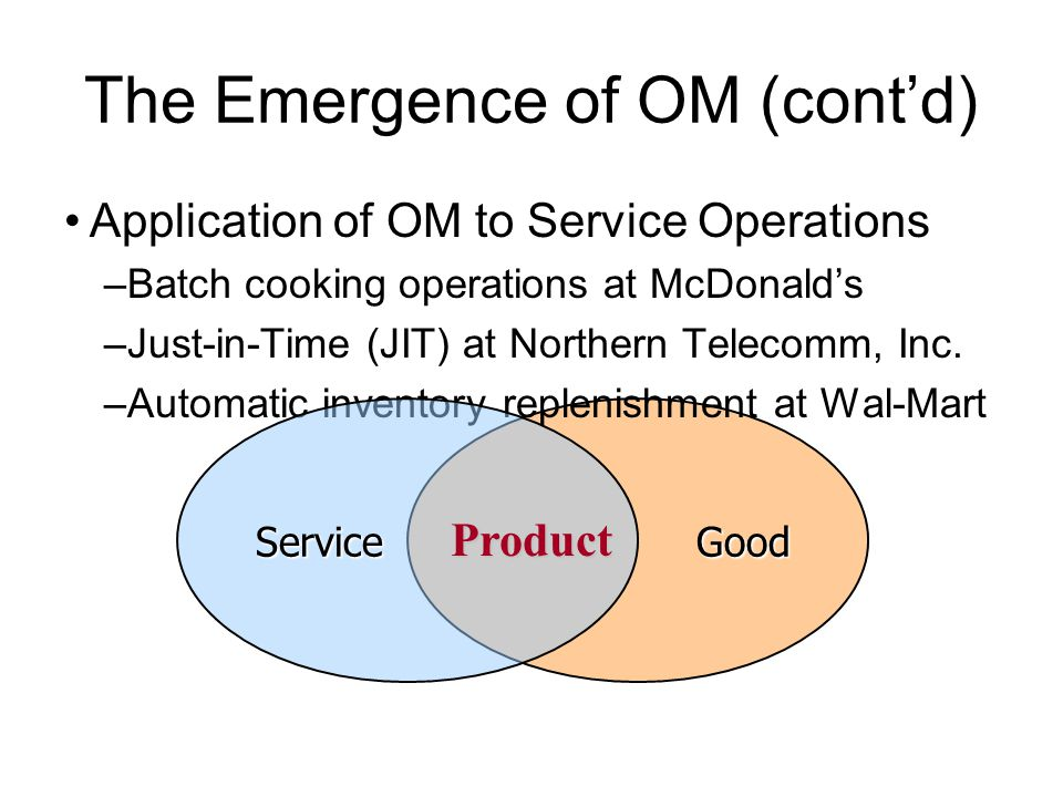 The Emergence of OM (cont'd)
