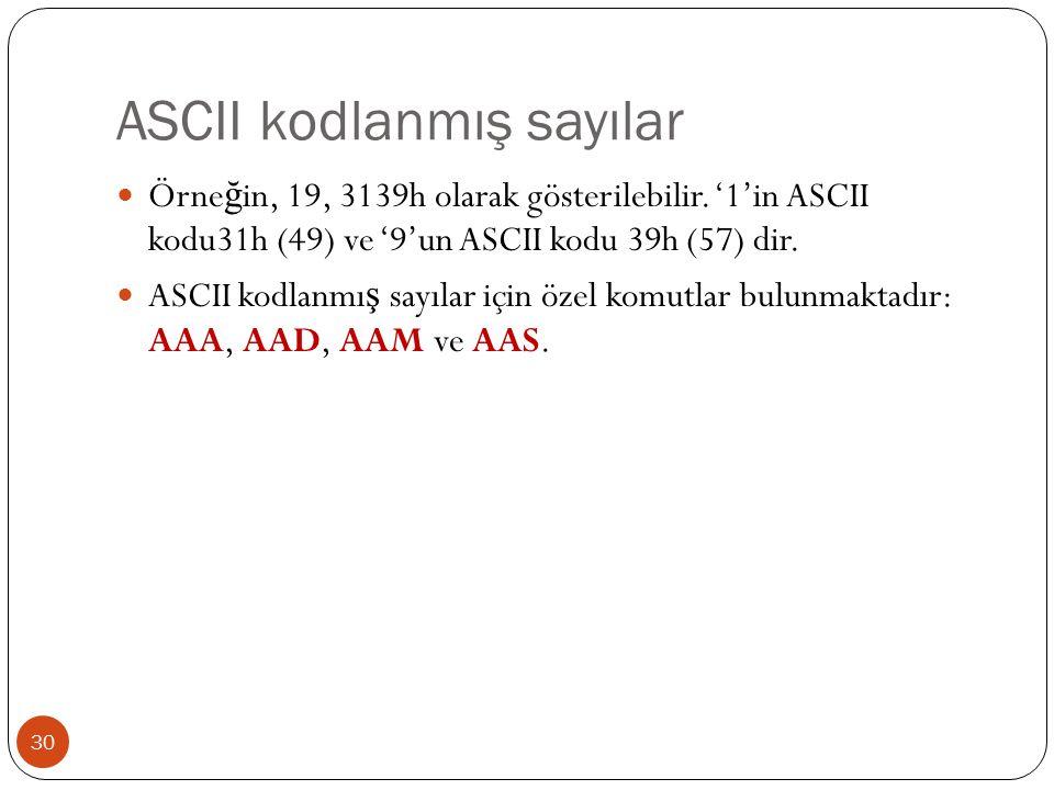 ASCII kodlanmış sayılar