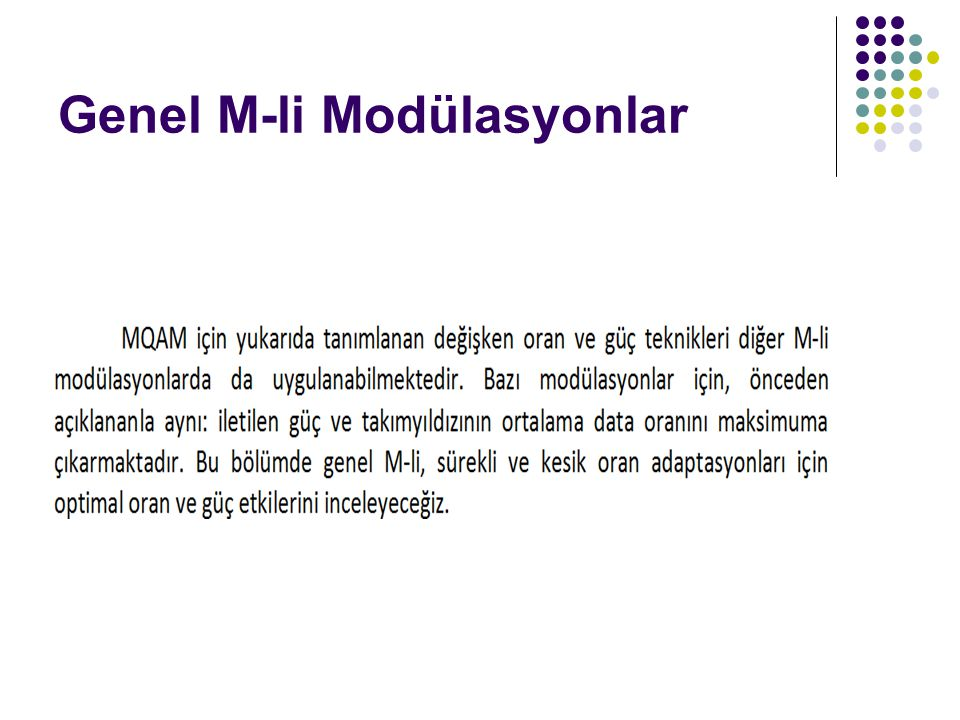 Genel M-li Modülasyonlar