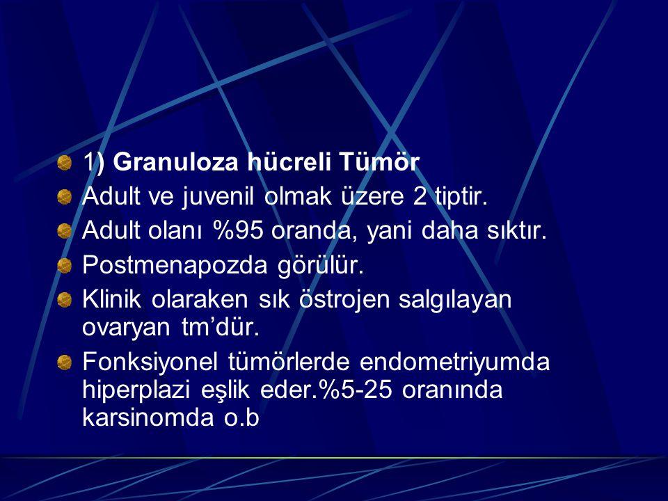 1) Granuloza hücreli Tümör