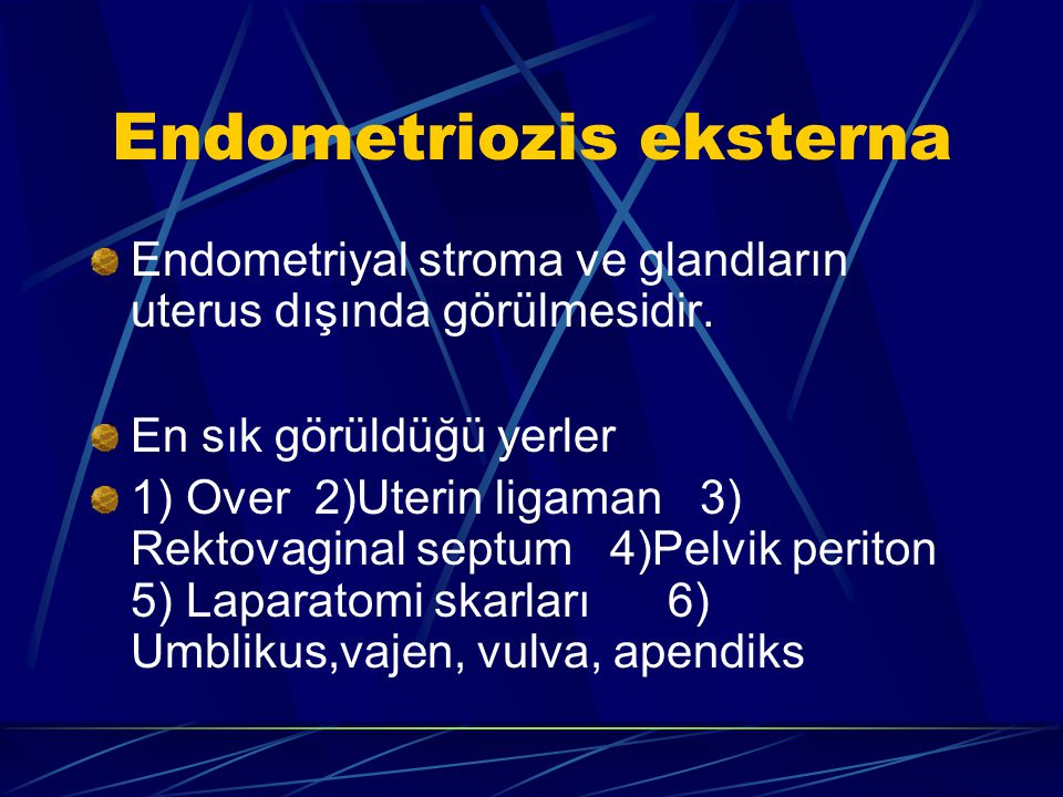 Endometriozis eksterna