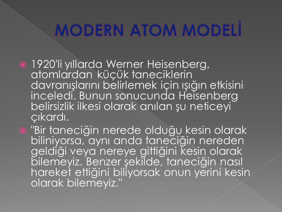 MODERN ATOM MODELİ