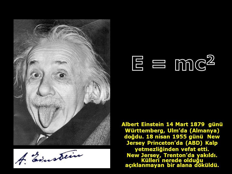 A E = mc2.