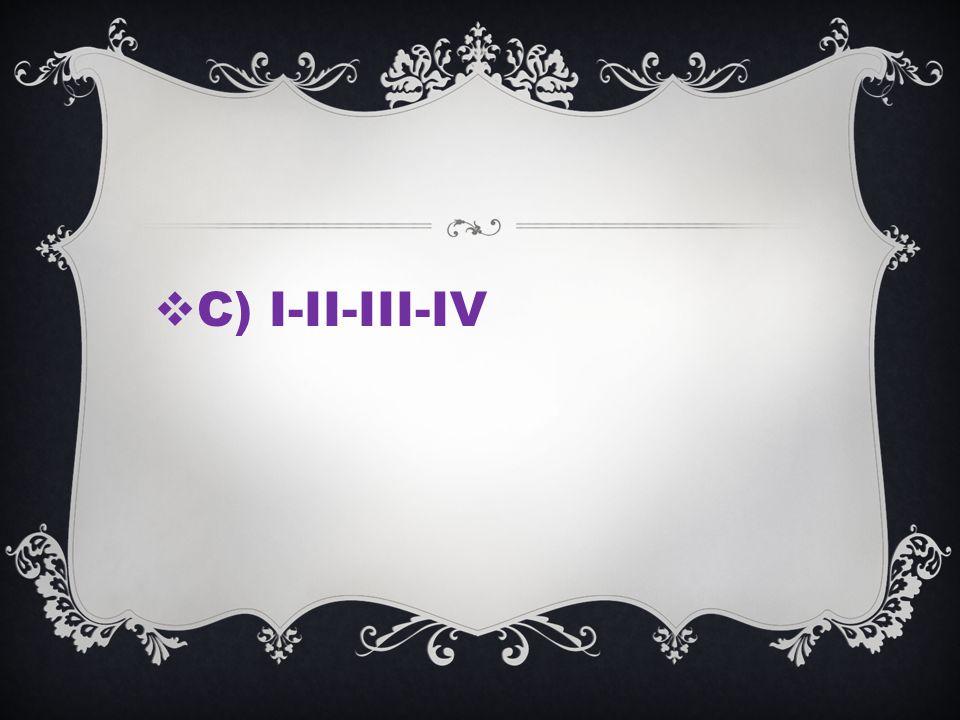C) I-II-III-IV