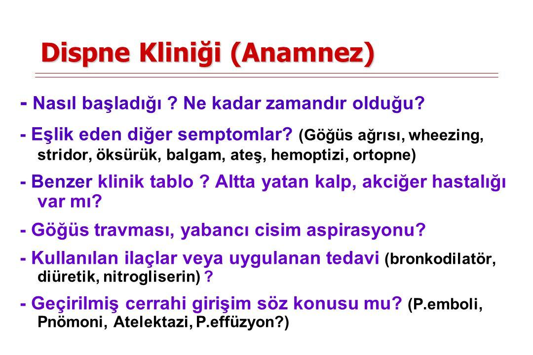 Dispne Kliniği (Anamnez)