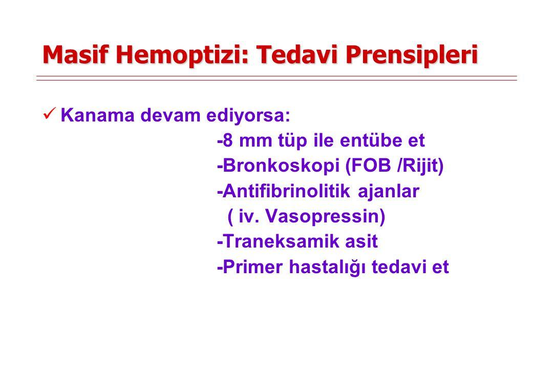 Masif Hemoptizi: Tedavi Prensipleri