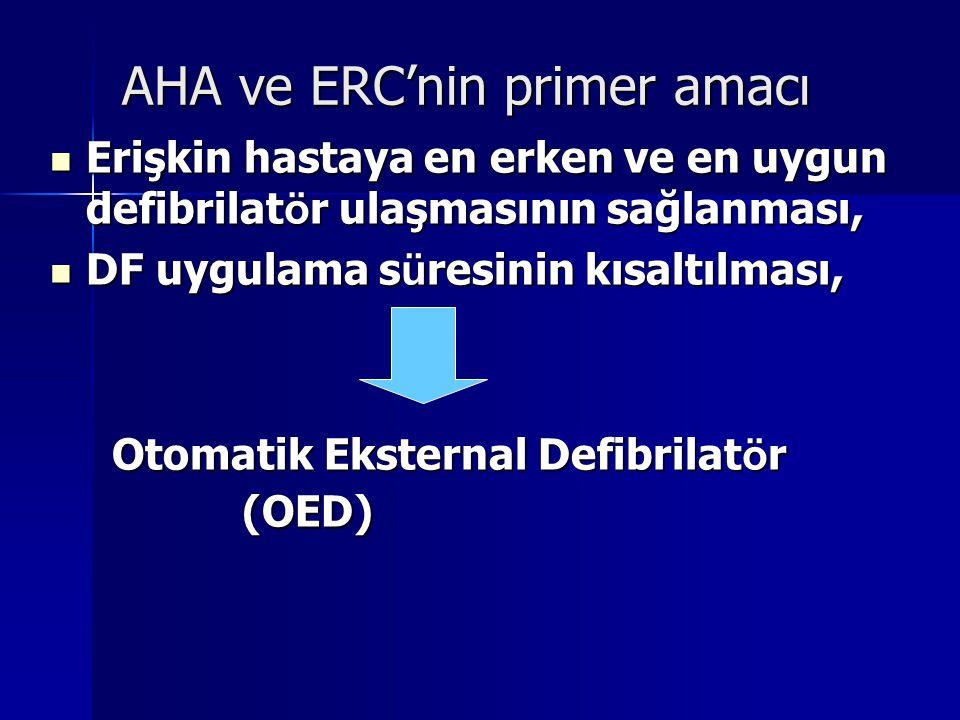 AHA ve ERC'nin primer amacı