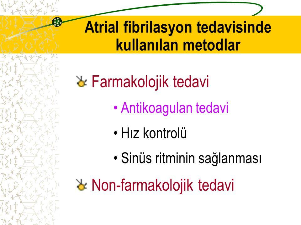 Atrial fibrilasyon tedavisinde kullanılan metodlar