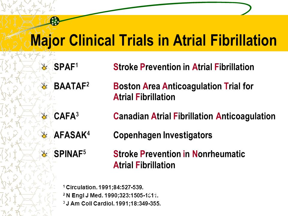 Major Clinical Trials in Atrial Fibrillation