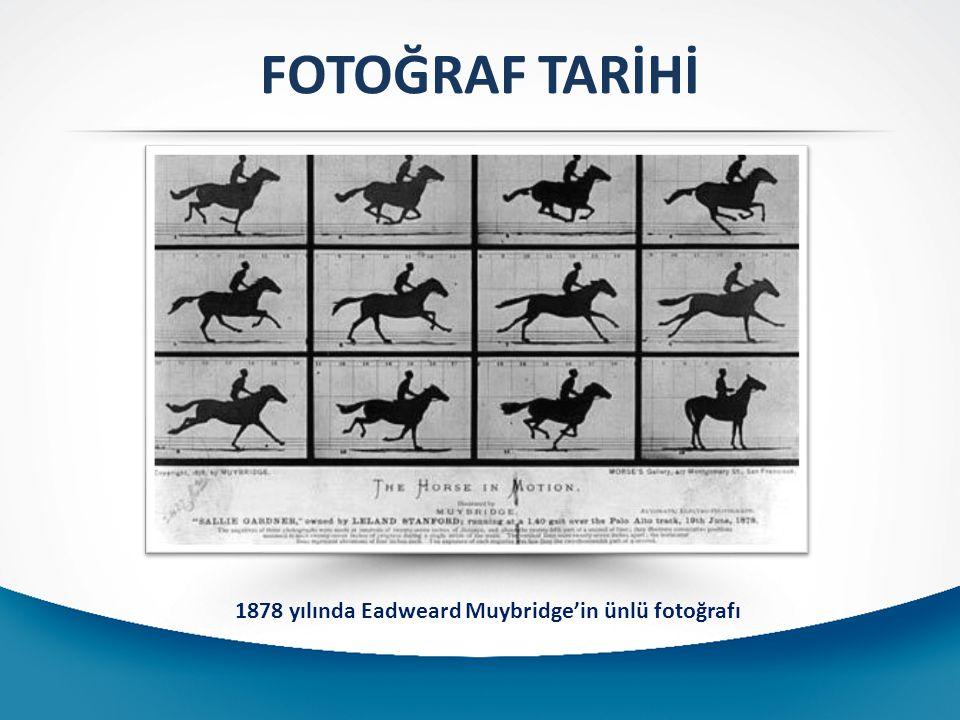 1878 yılında Eadweard Muybridge'in ünlü fotoğrafı