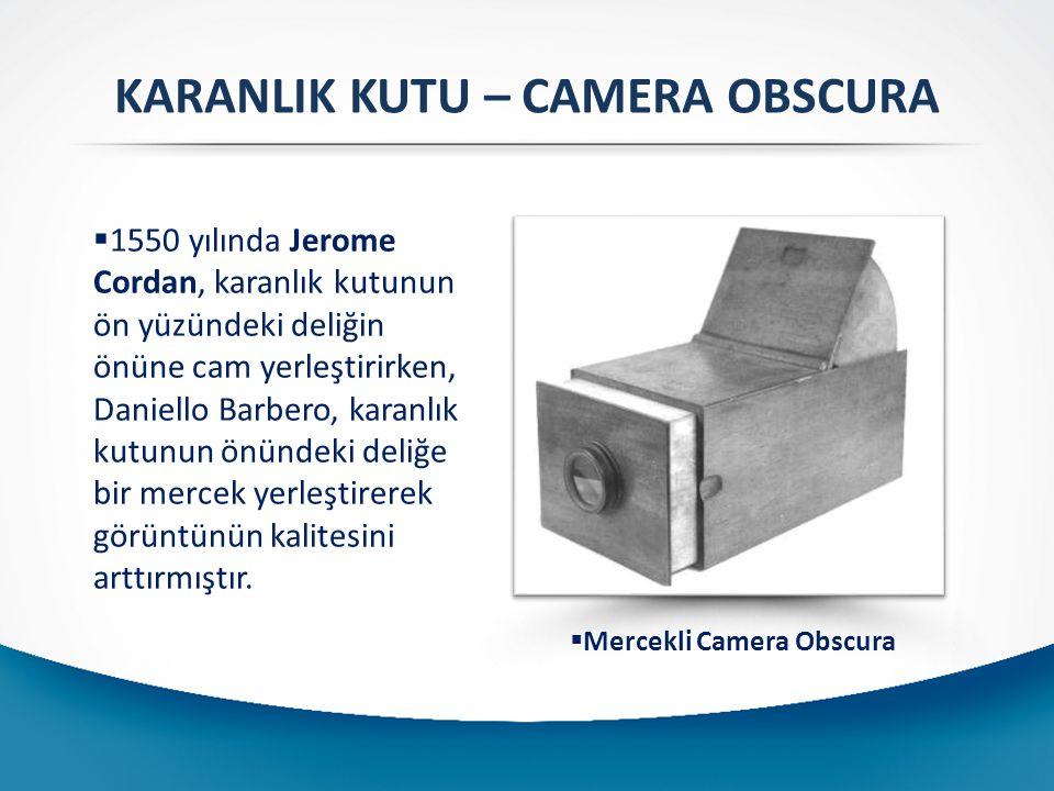 KARANLIK KUTU – CAMERA OBSCURA Mercekli Camera Obscura