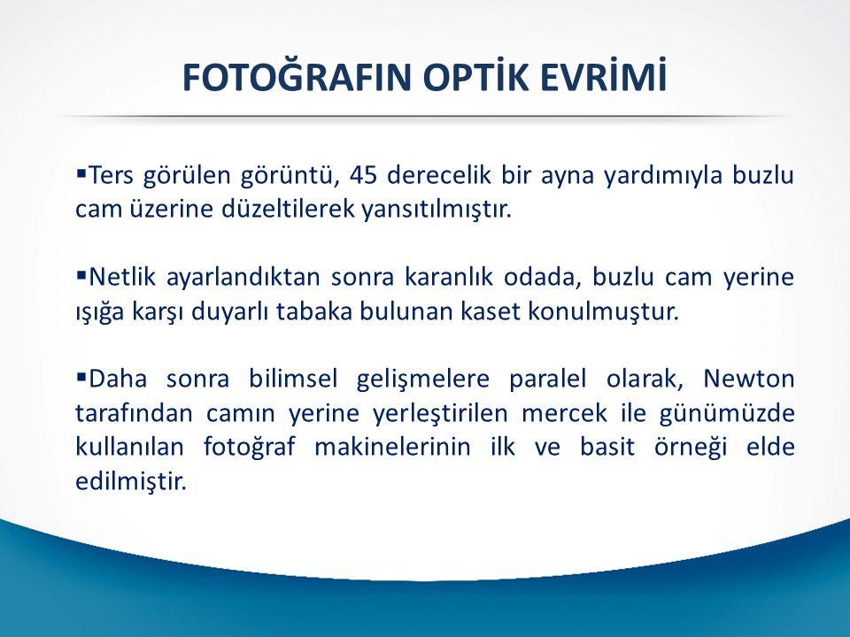 FOTOĞRAFIN OPTİK EVRİMİ