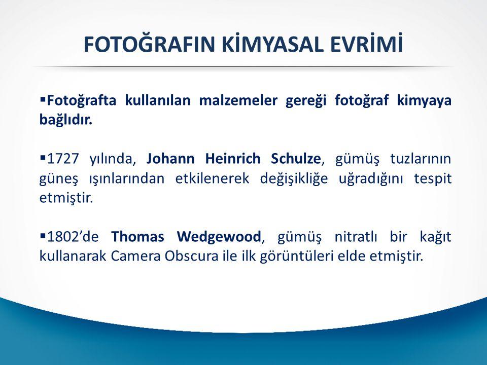 FOTOĞRAFIN KİMYASAL EVRİMİ