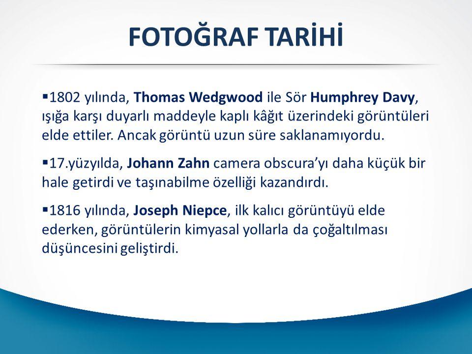 FOTOĞRAF TARİHİ