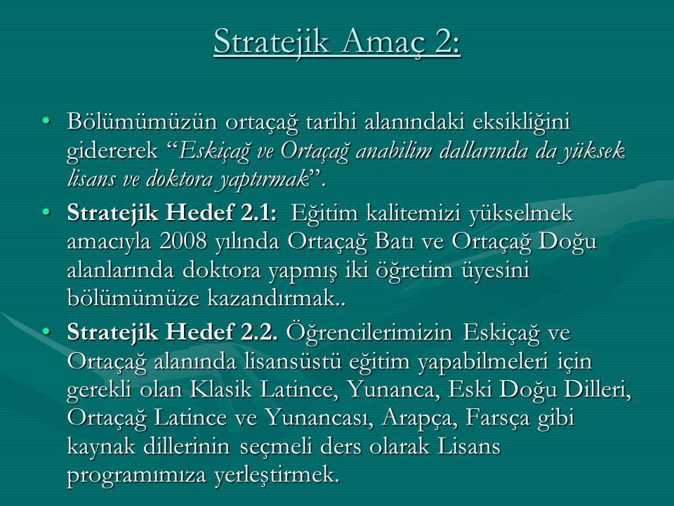 Stratejik Amaç 2: