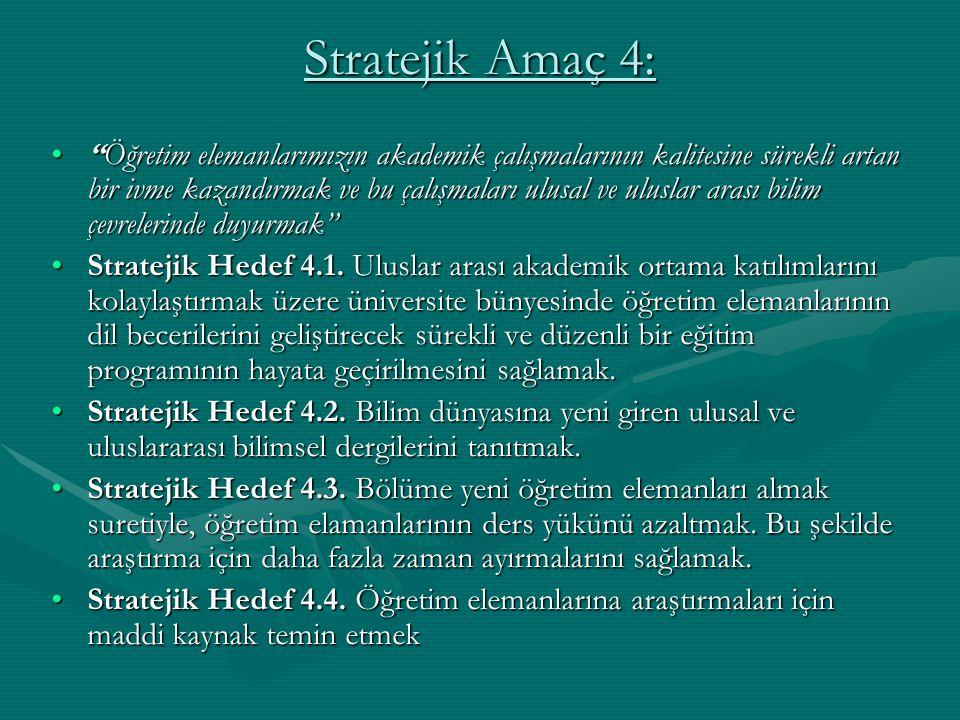 Stratejik Amaç 4: