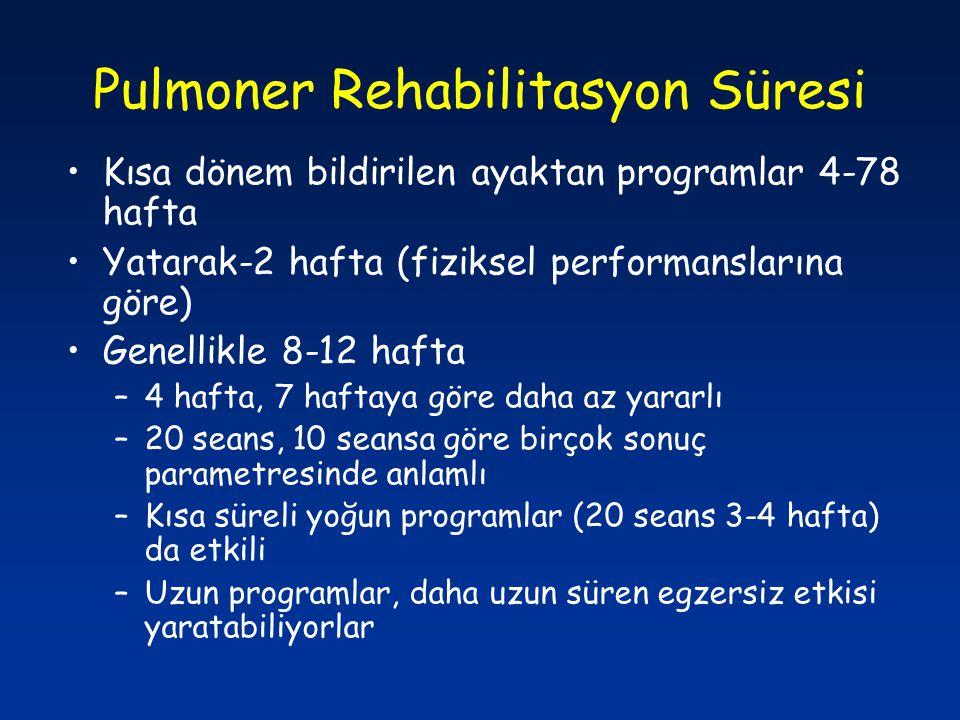 Pulmoner Rehabilitasyon Süresi
