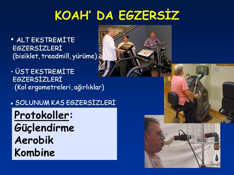 KOAH' DA EGZERSİZ Protokoller: Güçlendirme Aerobik Kombine