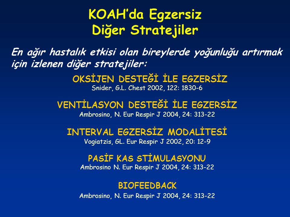KOAH'da Egzersiz Diğer Stratejiler