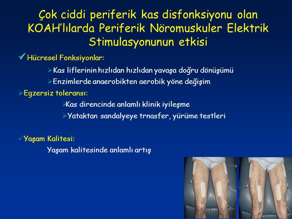 Çok ciddi periferik kas disfonksiyonu olan KOAH'lılarda Periferik Nöromuskuler Elektrik Stimulasyonunun etkisi