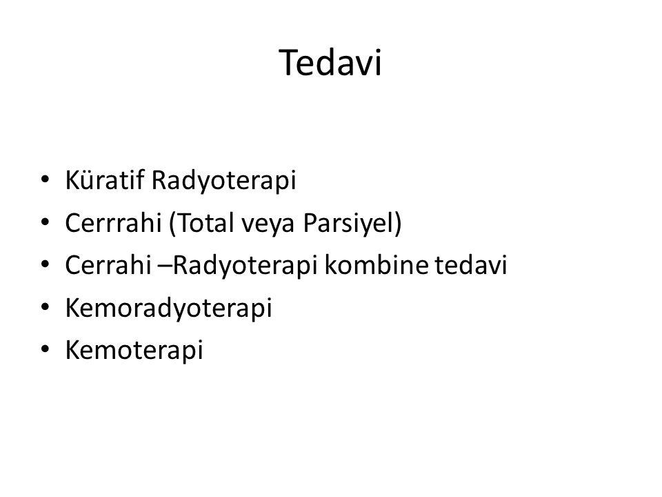 Tedavi Küratif Radyoterapi Cerrrahi (Total veya Parsiyel)