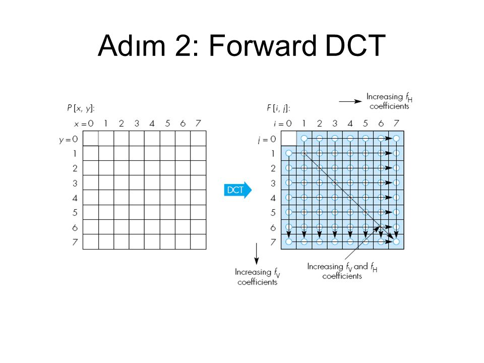 Adım 2: Forward DCT