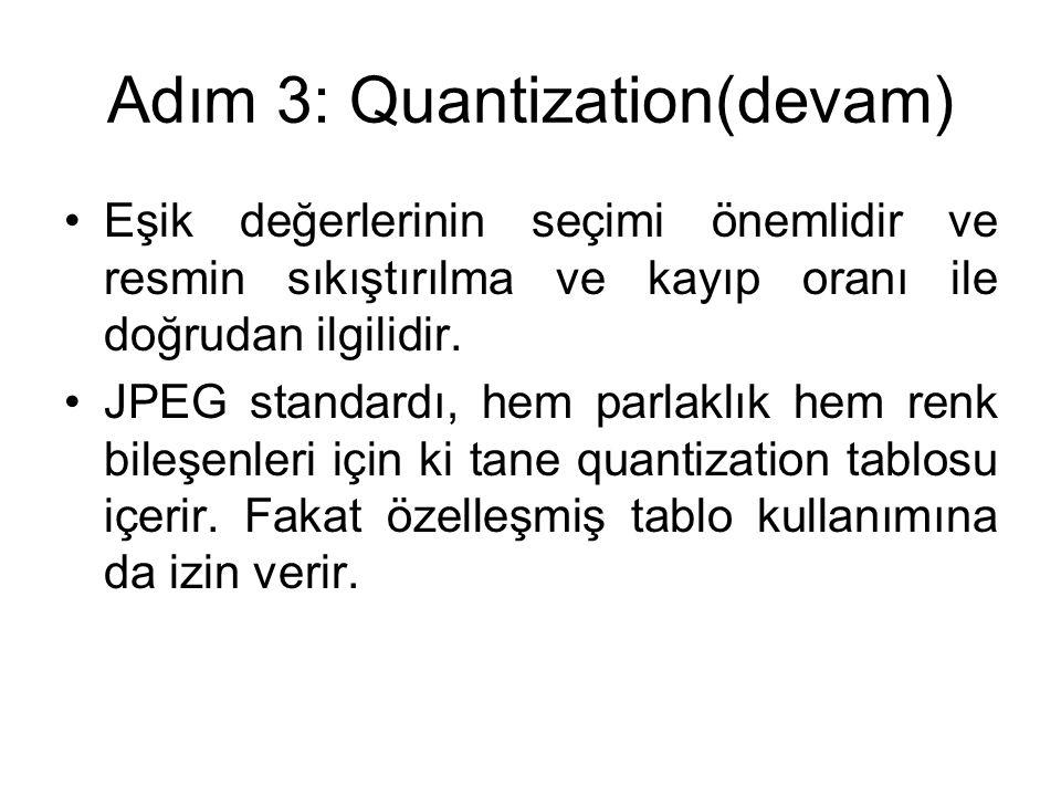 Adım 3: Quantization(devam)