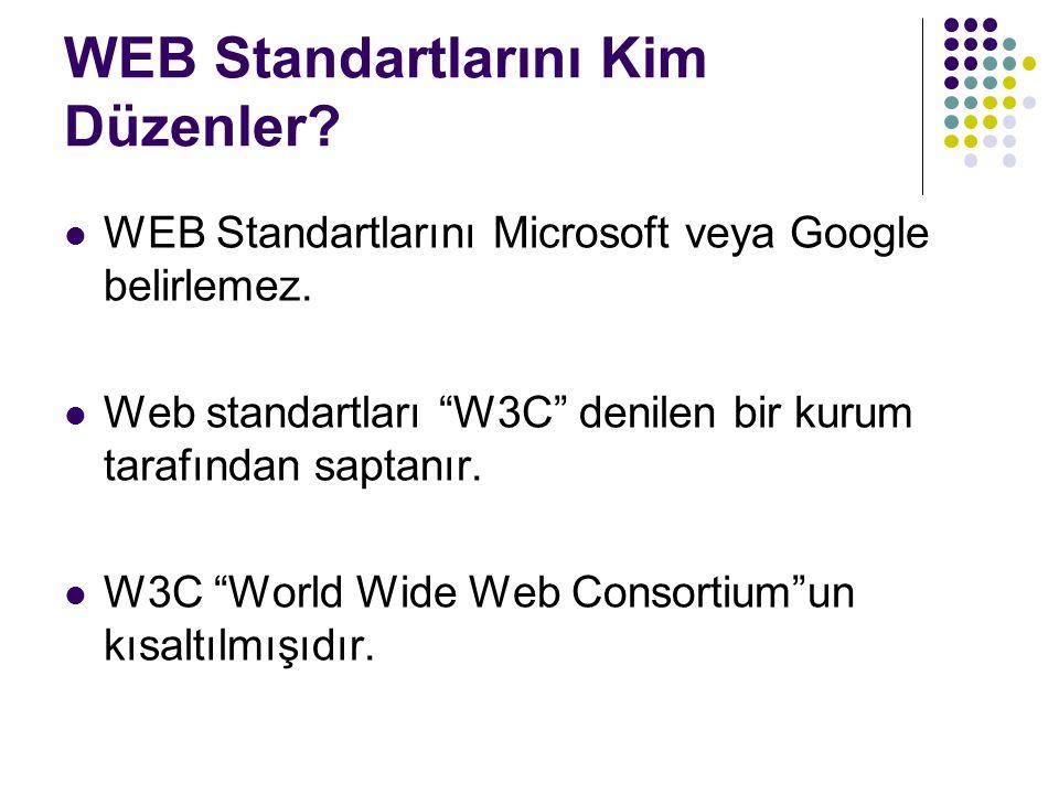 WEB Standartlarını Kim Düzenler