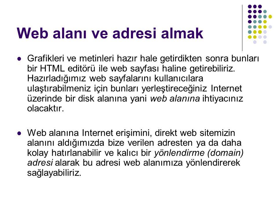 Web alanı ve adresi almak