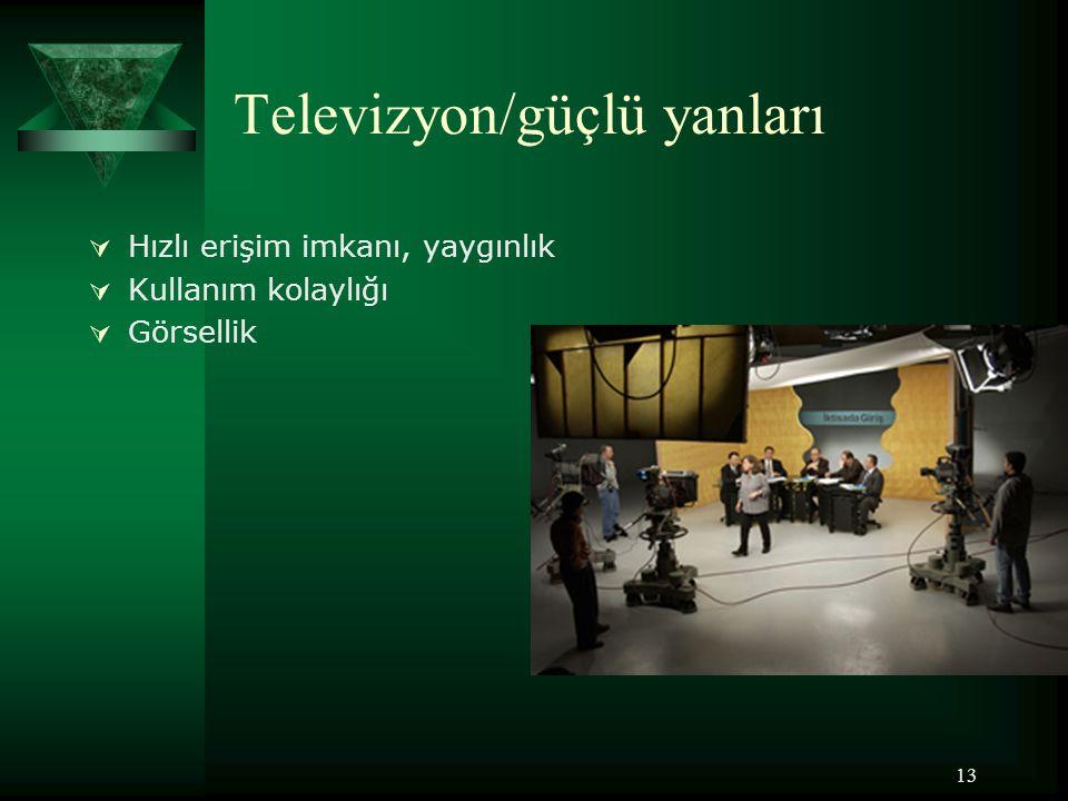 Televizyon/güçlü yanları