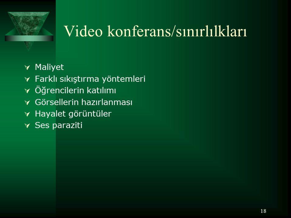 Video konferans/sınırlılkları
