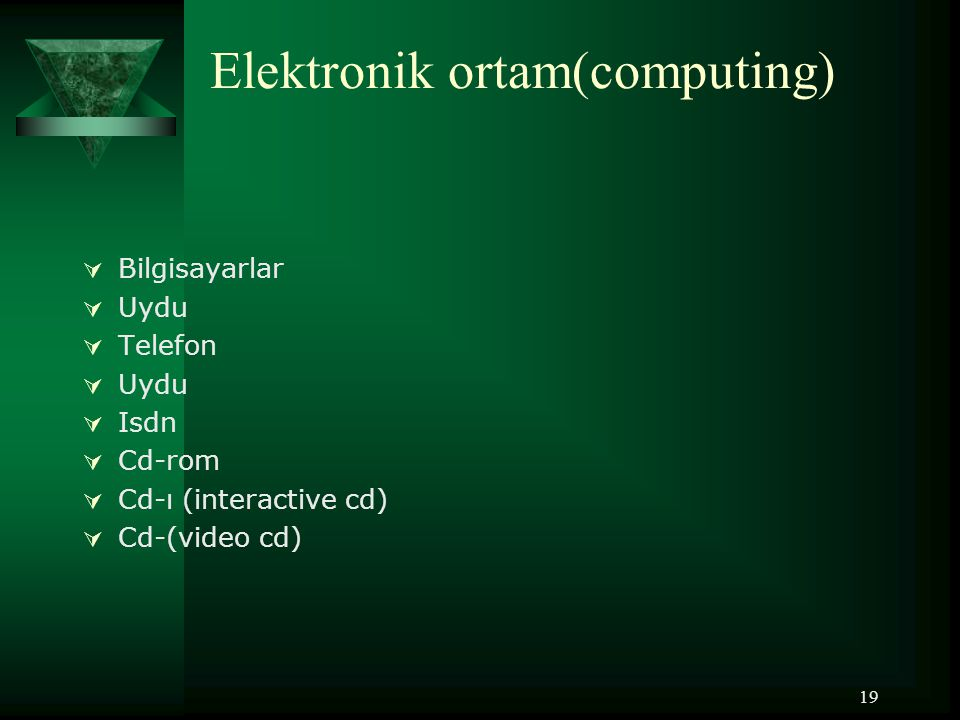 Elektronik ortam(computing)