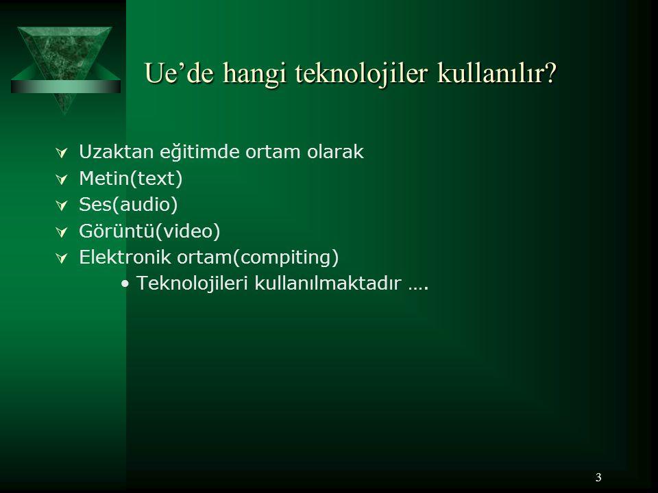Ue'de hangi teknolojiler kullanılır