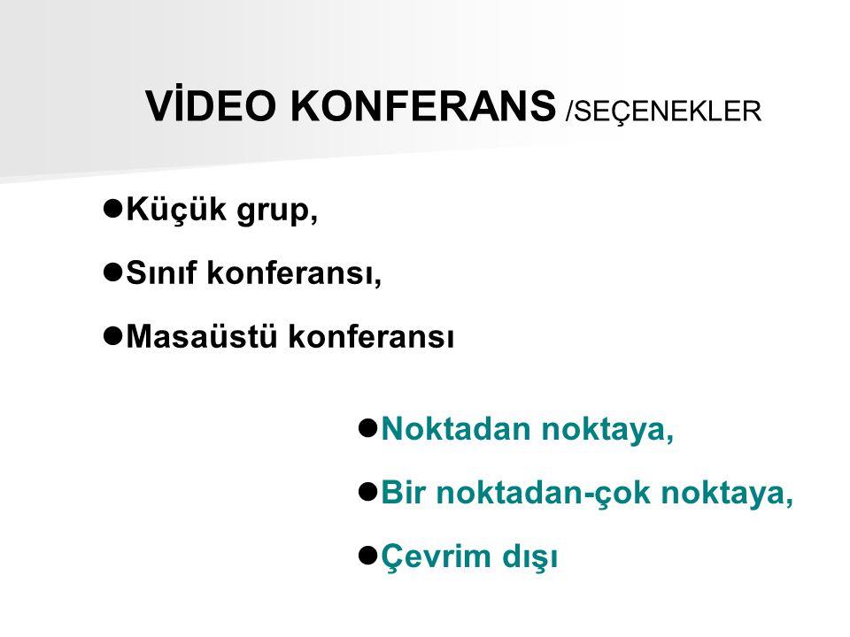 VİDEO KONFERANS /SEÇENEKLER