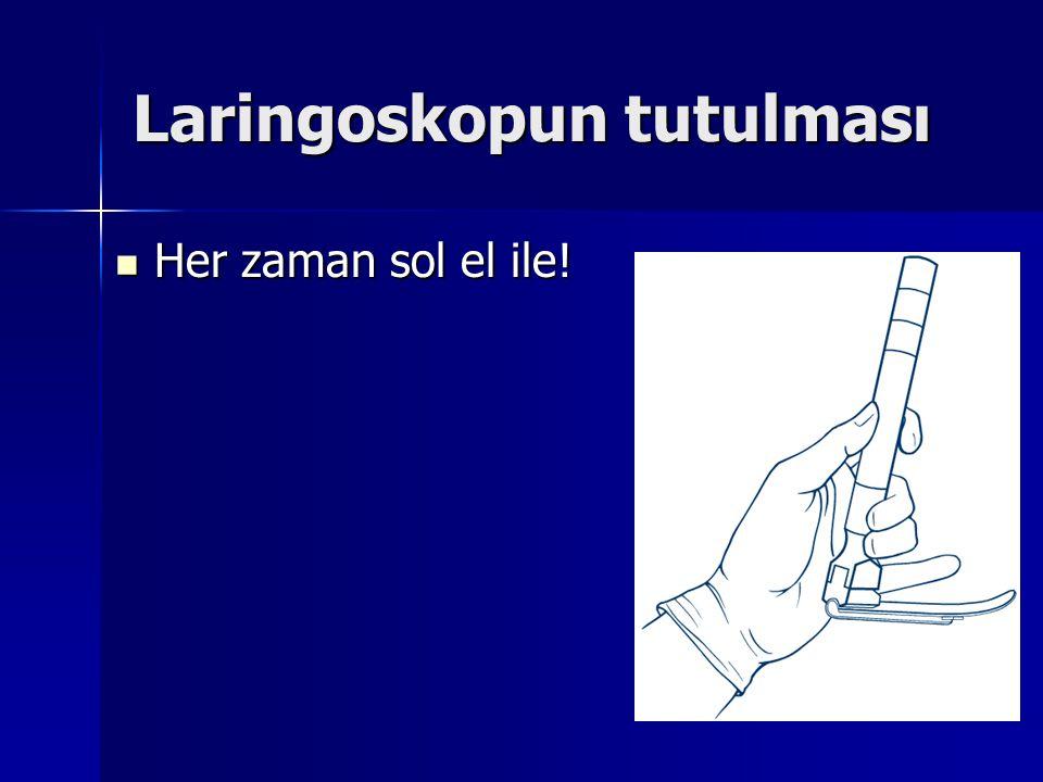 Laringoskopun tutulması